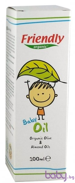 Friendly Бебешко олио с органично масло от маслина и бадем 100 мл. 966